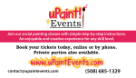 uPaint Events Business Card Front